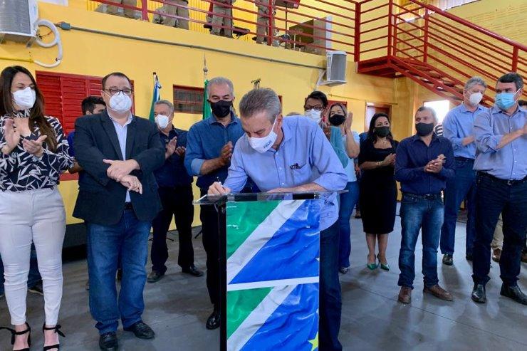 Imagem: Deputado Paulo Corrêa participou de lançamento de obra em Ribas do Rio Pardo acompanhado do governador Reinaldo Azambuja e secretários