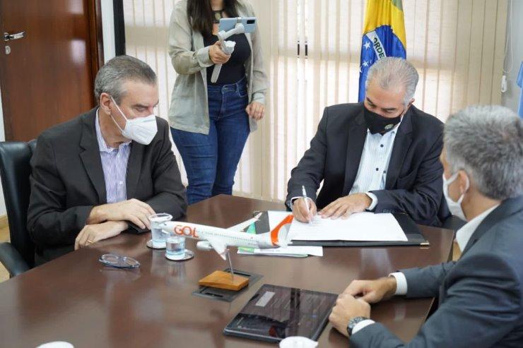 Imagem: Deputado Paulo Corrêa representou a ALEMS no evento realizado na Governadoria de MS